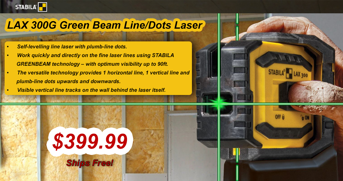 Stabila LAX 300G Green Line and Dot Laser