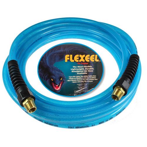 "100' x 1/4"" FLEXEEL Air Hose w/ Reusable Strain Relief"