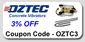 Oztec Concrete Vibrators Savings Coupon