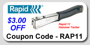 Rapid 11 Hammer Tacker Savings Coupon
