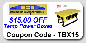 Temporary Power Box Savings Coupon