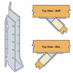 Simpson Strong Tie SUL24 Skewed 45 Degree Joist Hangers