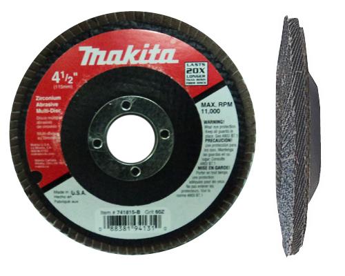 Makita 741816 B 4 1 2 X 7 8 80 Grit Zirconium Abrasive Multi Disc
