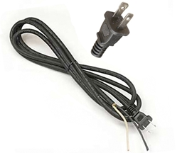 9 x 16/2 Power Supply Cord with 2-Prong Plug
