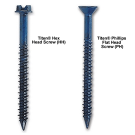 TITEN Concrete & Masonry Screws