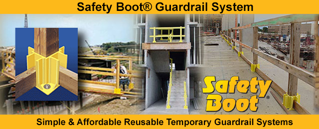 Safety Boot Temporary Guardrail System