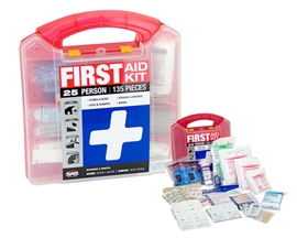 25 Person First Aid Kit - Plastic Case
