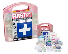 50 Person First Aid Kit - Plastic Case