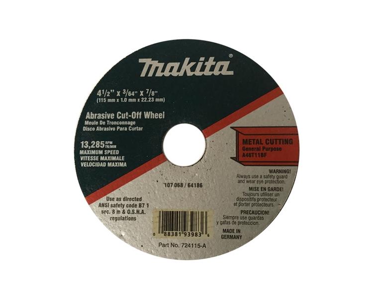 Makita 4-1//2 x 7//8 x 3//64 Cut-Off Wheel 724115-A New