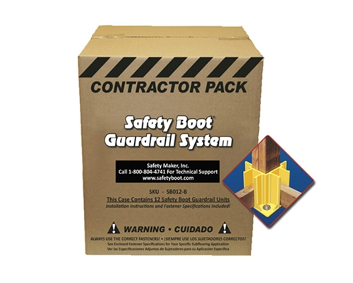 Safety Boot Guardrail System Bulk Pack of 12